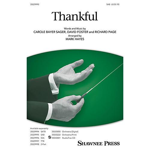 Shawnee Press Thankful SAB arranged by Mark Hayes-thumbnail