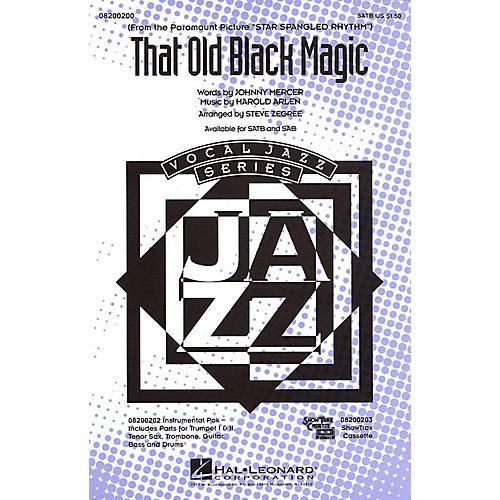 Hal Leonard That Old Black Magic SATB arranged by Steve Zegree
