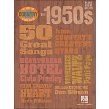 Hal Leonard The 1950s Country Decade Series arranged for piano, vocal, and guitar (P/V/G)