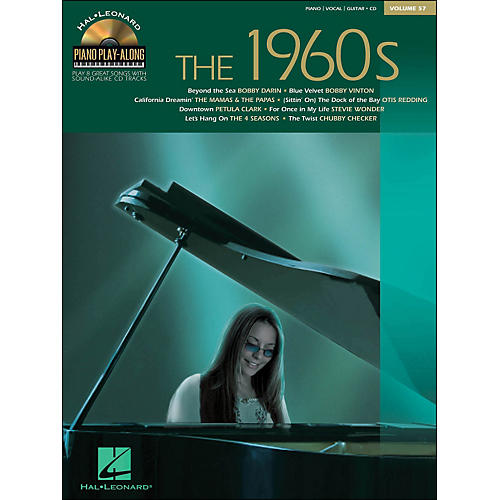 Hal Leonard The 1960s - Piano Play-Along Volume 57 (CD/Pkg) arranged for piano, vocal, and guitar (P/V/G)