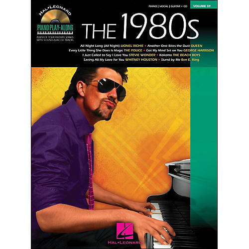 Hal Leonard The 1980s Piano Play-Along Volume 59 Book/CD arranged for piano, vocal, and guitar (P/V/G)
