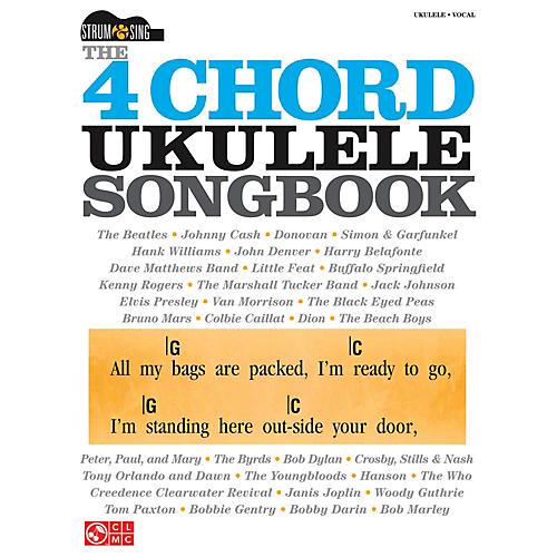 Cherry Lane The 4 Chord Ukulele Songbook  Strum & Sing Series-thumbnail