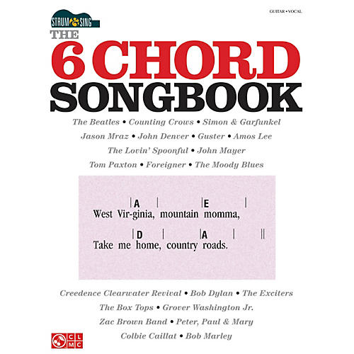 Hal Leonard The 6 Chord Songbook Strum & Sing Series