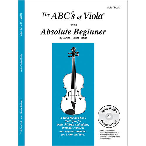 Carl Fischer The Abc's of Viola for the Absolute Beginner - Book 1 (Book/CD)-thumbnail