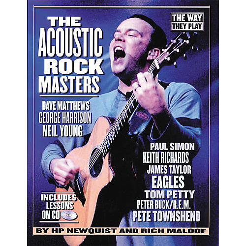 Backbeat Books The Acoustic Rock Masters - They Way They Play (Book/CD)