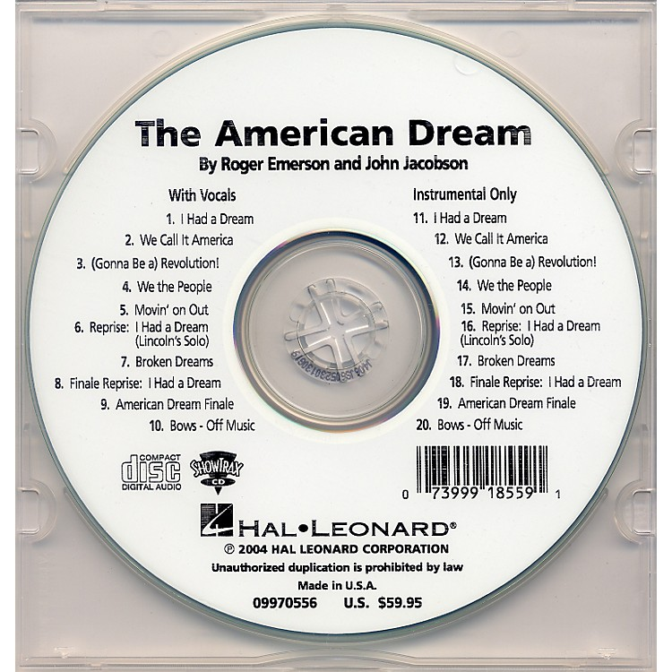 Hal Leonard The American Dream Preview Cd