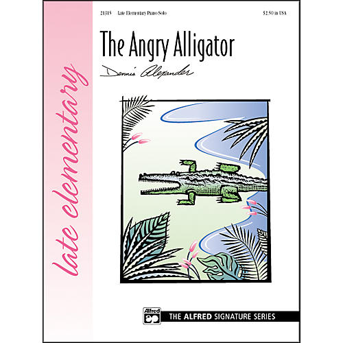 Alfred The Angry Alligator Late Elementary Piano Sheet