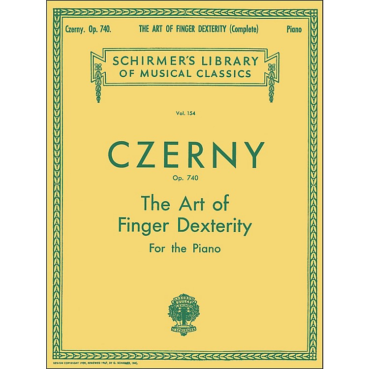 G. Schirmer The Art Of Finger Dexterity Op 740 Complete By Czerny