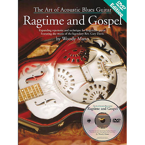 Music Sales The Art of Acoustic Blues Guitar - Ragtime and Gospel Music Sales America BK/DVD by Woody Mann-thumbnail