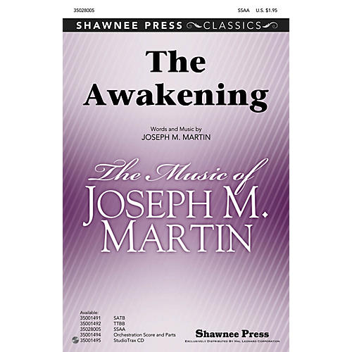 Shawnee Press The Awakening SSAA composed by Joseph M. Martin-thumbnail