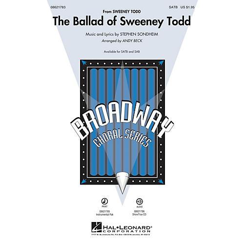 Hal Leonard The Ballad of Sweeney Todd SAB Arranged by Andy Beck