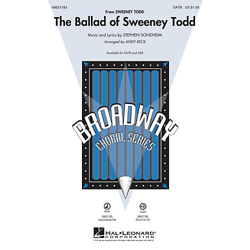 Hal Leonard The Ballad of Sweeney Todd ShowTrax CD Arranged by Andy Beck-thumbnail