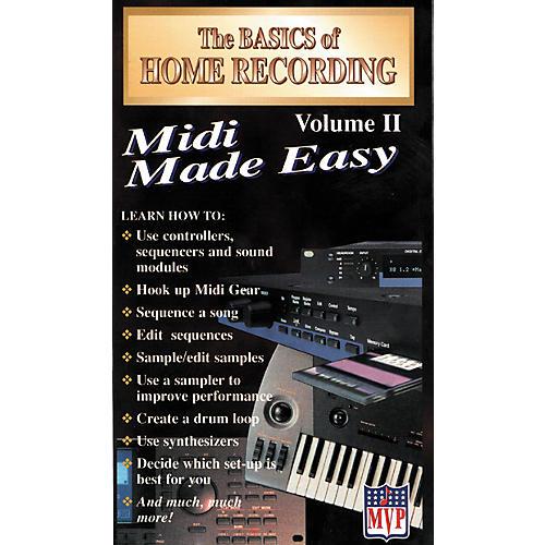 MVP The Basics of Home Recording Volume 2 - MIDI Made Easy (VHS)