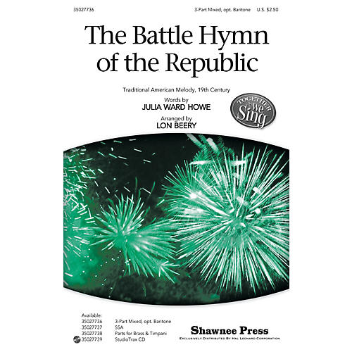 Shawnee Press The Battle Hymn of the Republic (Together We Sing Series) BRASS & TIMPANI Arranged by Lon Beery