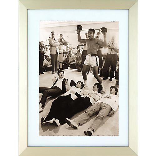 Hulton Archive The Beatles A Hard Day's Fight Black and White Framed Print-thumbnail