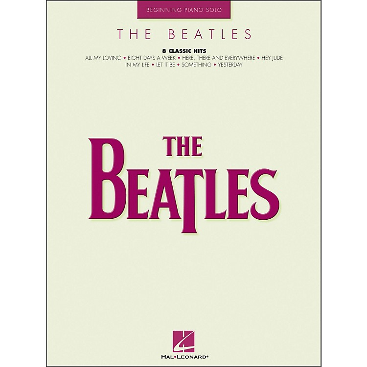 Hal Leonard The Beatles Beginning Piano Solos