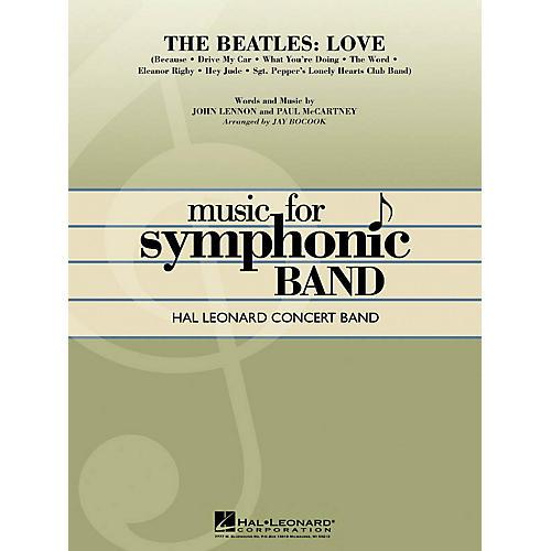 Hal Leonard The Beatles: Love Concert Band Level 4 Arranged by Jay Bocook
