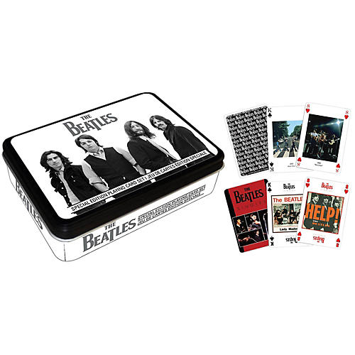 Hal Leonard The Beatles Playing Cards 2-Deck Set Gift Tin