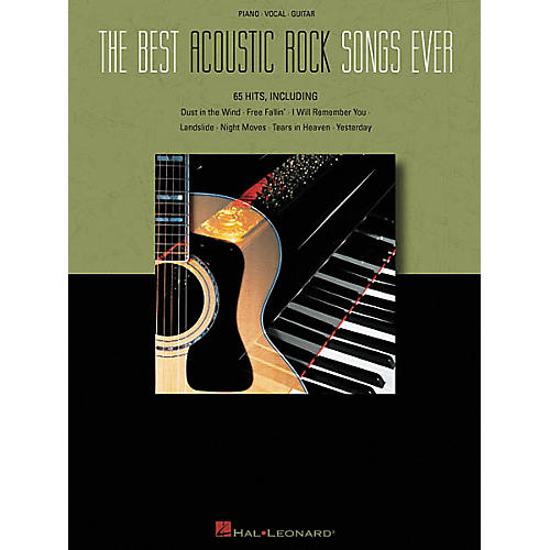 Hal Leonard The Best Acoustic Rock Songs Ever Piano, Vocal, Guitar Songbook-thumbnail