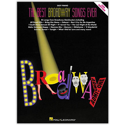 Hal Leonard The Best Broadway Songs Ever Second Edition For Easy Piano