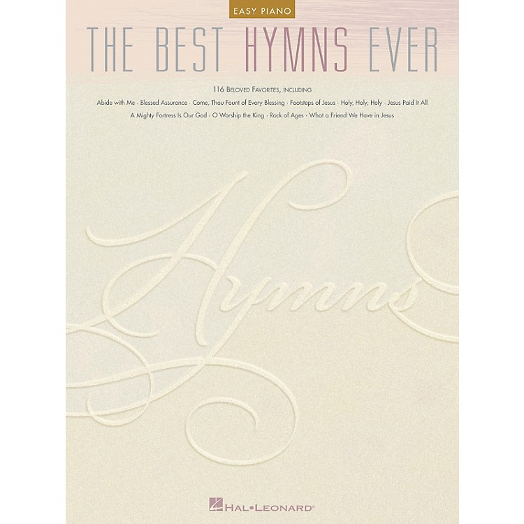 Hal Leonard The Best Hymns Ever For Easy Piano