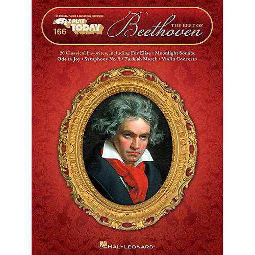 Hal Leonard The Best Of Beethoven E-Z Play Today Volume 166-thumbnail