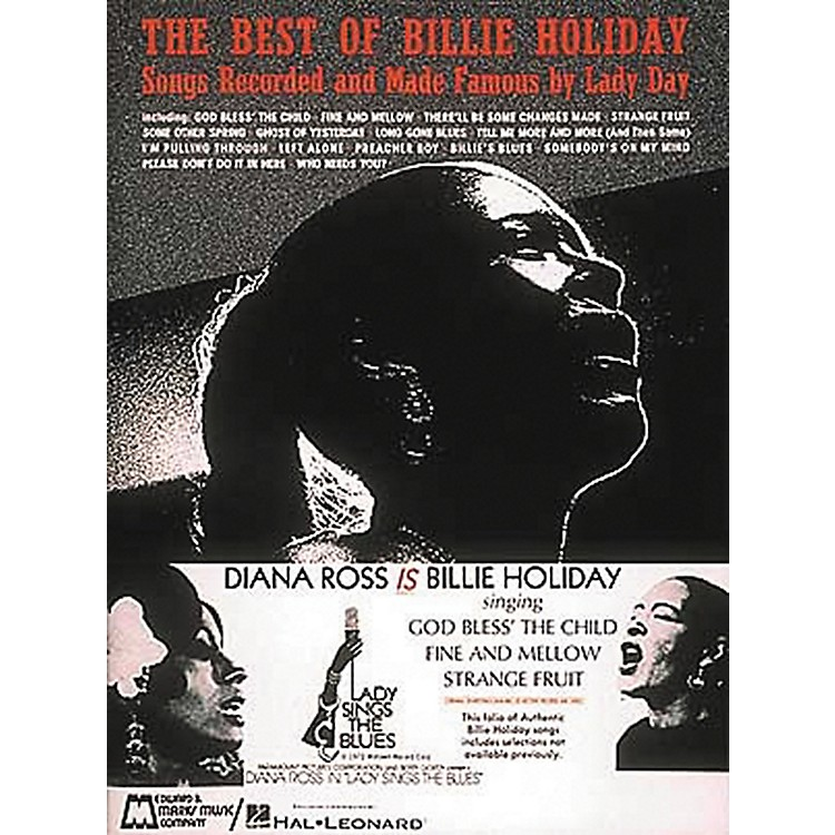 Hal Leonard The Best Of Billie Holiday Piano, Vocal, Guitar Songbook