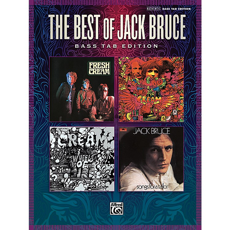 AlfredThe Best Of Jack Bruce: 13 Classics From Cream And Beyond Bass Tab Book