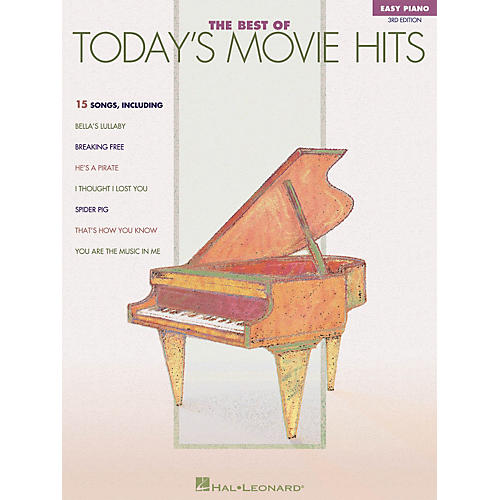 Hal Leonard The Best Of Today's Movie Hits For Easy Piano 3rd Edition