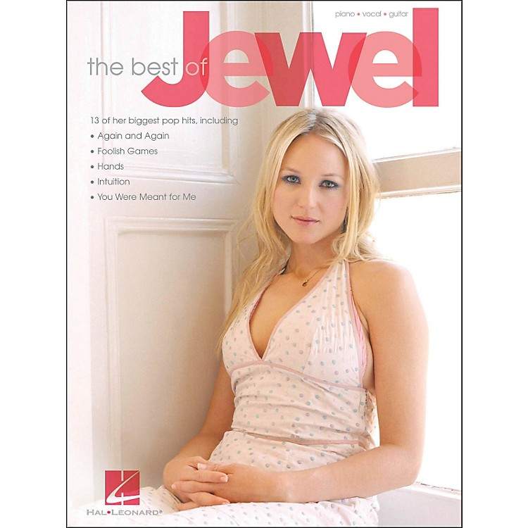 Hal Leonard The Best OfJewel arranged for piano, vocal, and guitar (P/V/G)