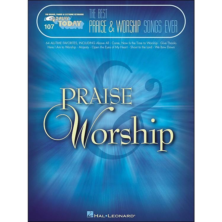 Hal LeonardThe Best Praise & Worship Songs Ever E-Z Play 107