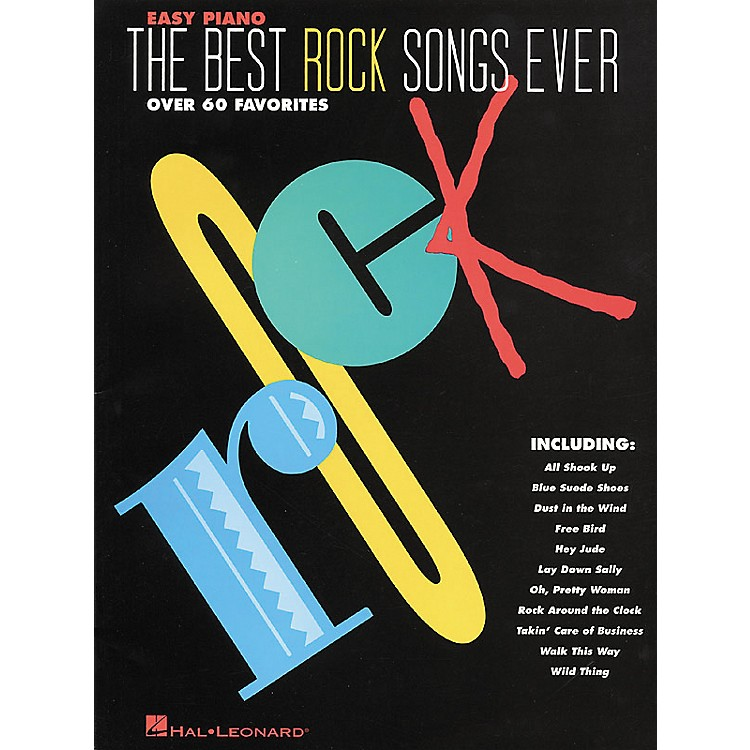 Hal Leonard The Best Rock Songs Ever For Easy Piano