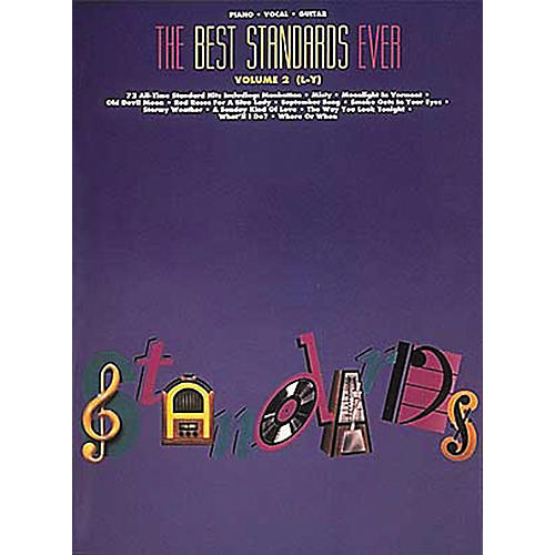 Hal Leonard The Best Standards Ever Volume 2 M-Z Revised Piano, Vocal, Guitar Songbook