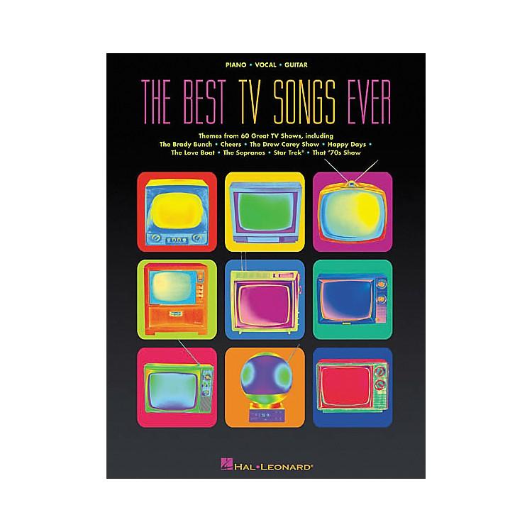 Hal LeonardThe Best TV Songs Ever Piano, Vocal, Guitar Songbook