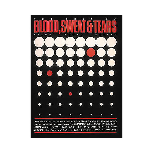 Hal Leonard The Best of Blood, Sweat & Tears - Piano, Vocal, Guitar Songbook