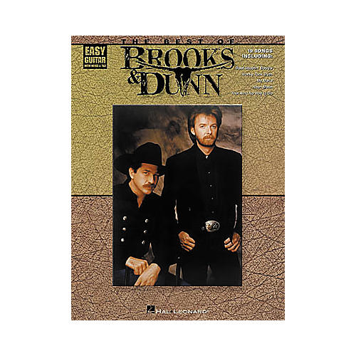 Hal Leonard The Best of Brooks and Dunn Easy Guitar Book-thumbnail