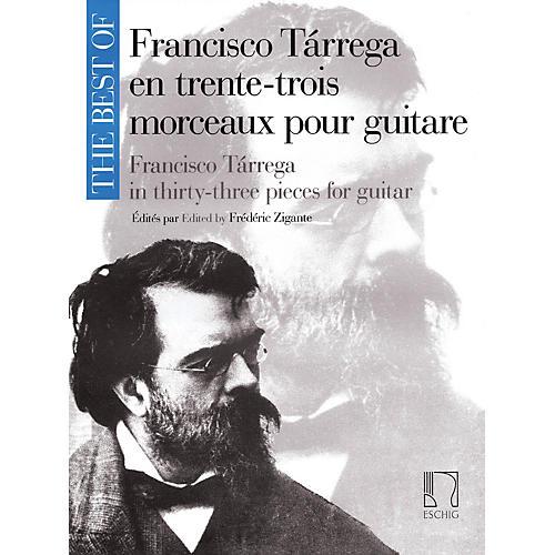 Max Eschig The Best of Francisco Tárrega in 33 Pieces for Guitar Max Eschig Series Softcover-thumbnail