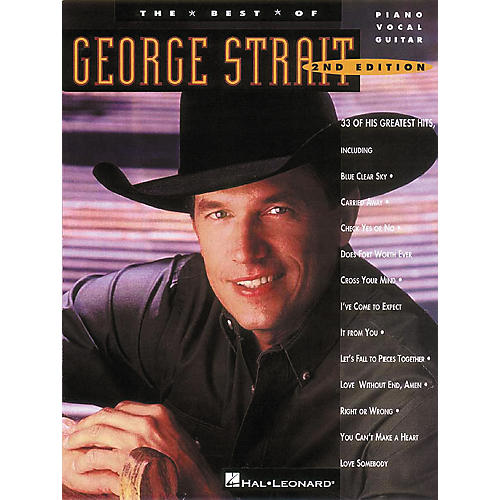 Hal Leonard The Best of George Strait Piano, Vocal, Guitar Songbook