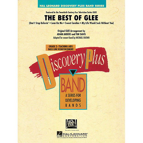 Hal Leonard The Best of Glee - Discovery Plus Band Level 2 arranged by Michael Brown