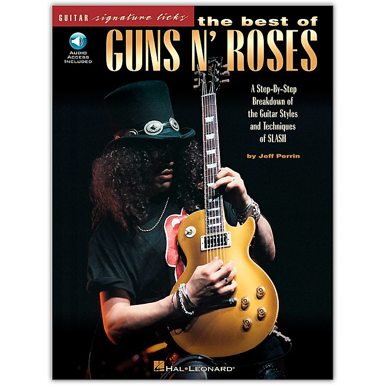 Hal Leonard The Best of Guns N' Roses Guitar Signature Licks Book with CD