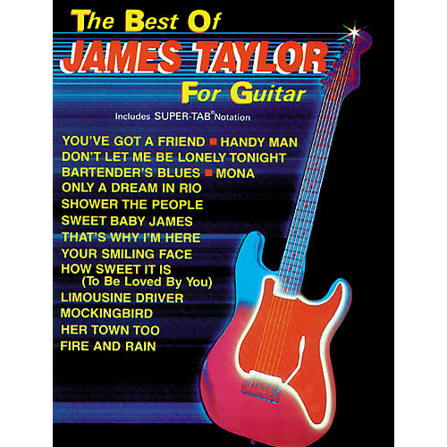 Alfred The Best of James Taylor For Guitar Book