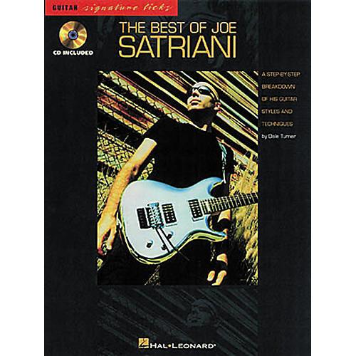 Hal Leonard The Best of Joe Satriani Signature Licks Book with CD-thumbnail