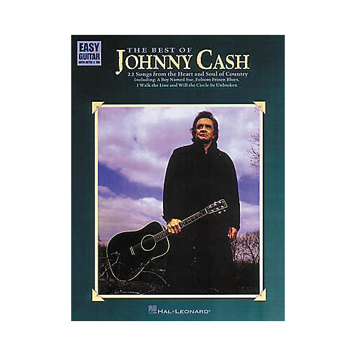 Hal Leonard The Best of Johnny Cash Easy Guitar Tab Book