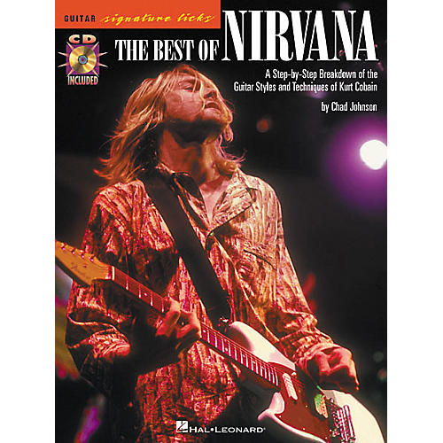 Hal Leonard The Best of Nirvana Guitar Signature Licks Book with CD