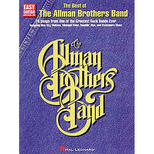 Hal Leonard The Best of the Allman Brothers Band Easy Guitar Tab Songbook