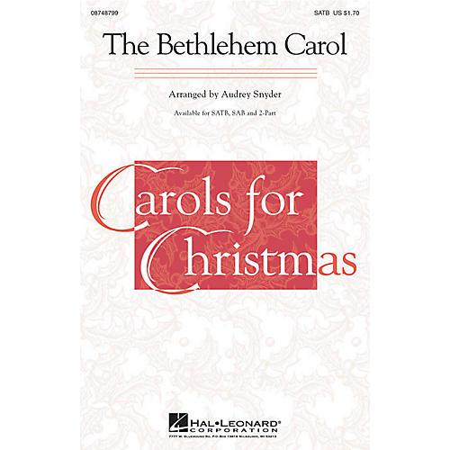 Hal Leonard The Bethlehem Carol 2-Part Arranged by Audrey Snyder