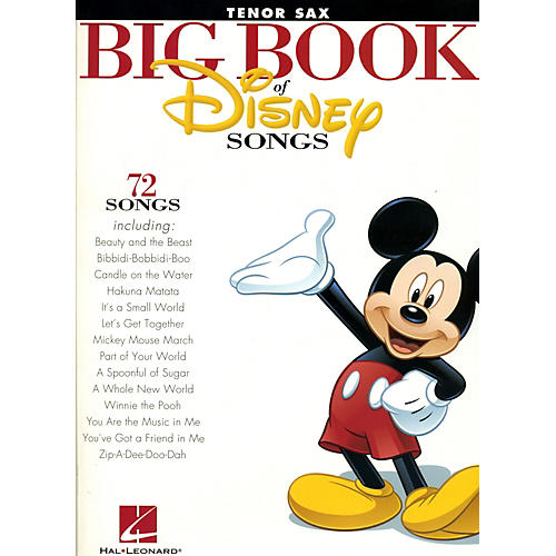 Hal Leonard The Big Book Of Disney Songs Alto Sax