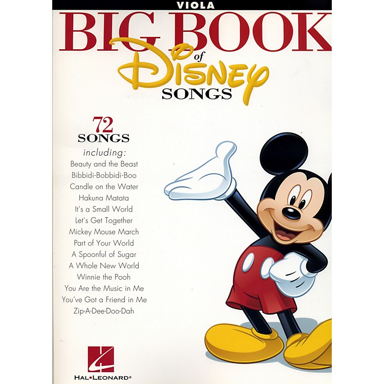 Hal LeonardThe Big Book Of Disney SongsViola