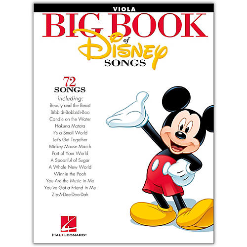 Hal Leonard The Big Book Of Disney Songs–Viola