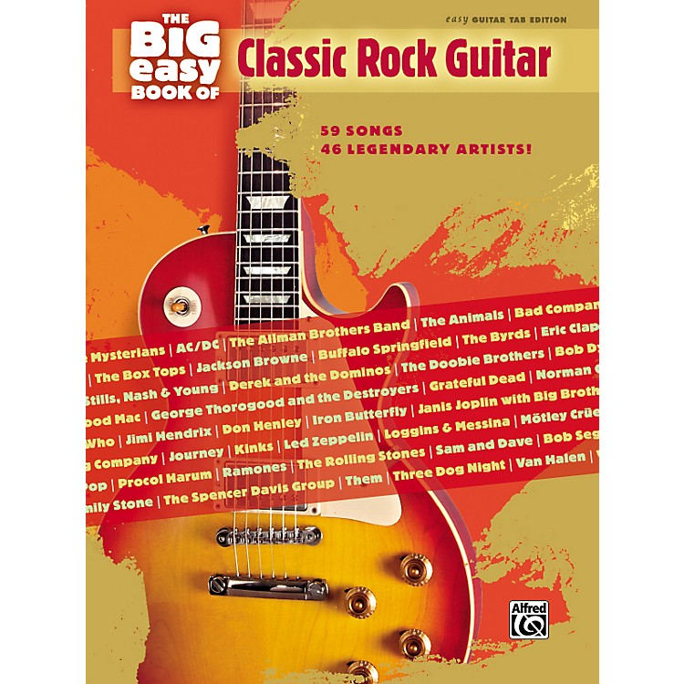 Hal Leonard The Big Easy Book of Classic Rock Guitar Tab